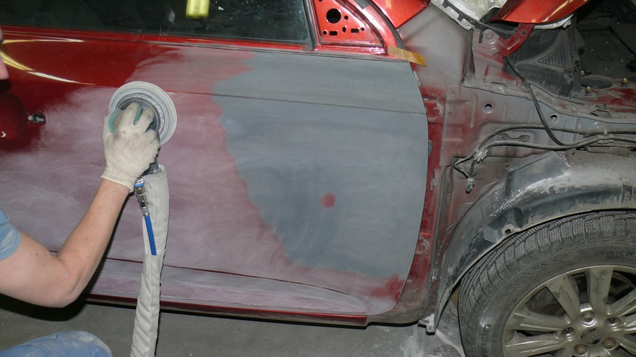 Покраска автомобиля после антигравия своими руками 16