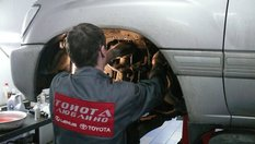 Замена амортизаторов гидра подвески LC100