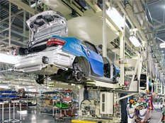 Тойота Делает перерыв в производстве